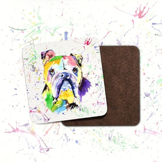 Hardboard Coaster( British Bulldog)